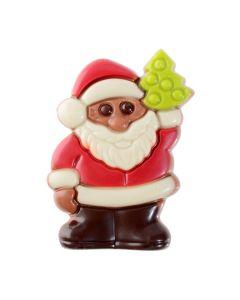Babbo Natale in blister in cioccolato al latte