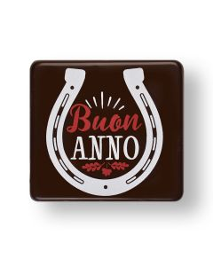Targhetta in blister in cioccolato fondente - Buon Anno