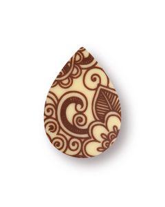 Goccia chablon in cioccolato bianco