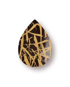 Goccia chablon in cioccolato fondente