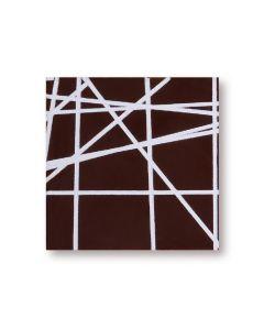 Quadrato chablon in cioccolato fondente